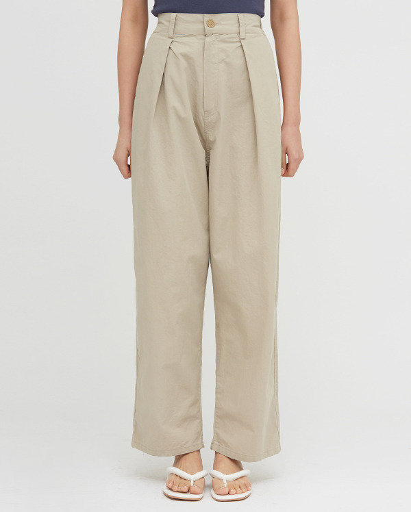 lio pintuck wide cotton pants
