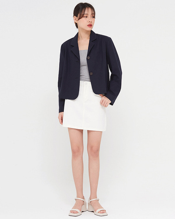 neyo linen crop jacket