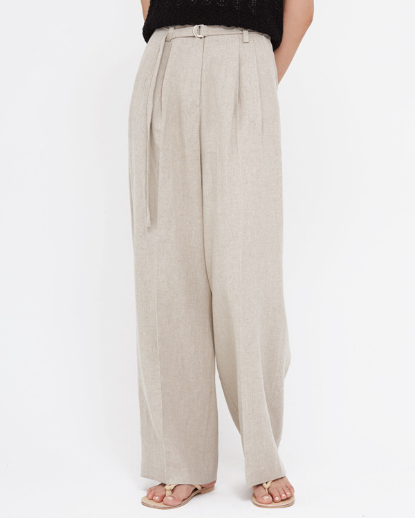 hake linen belt slacks (s, m)