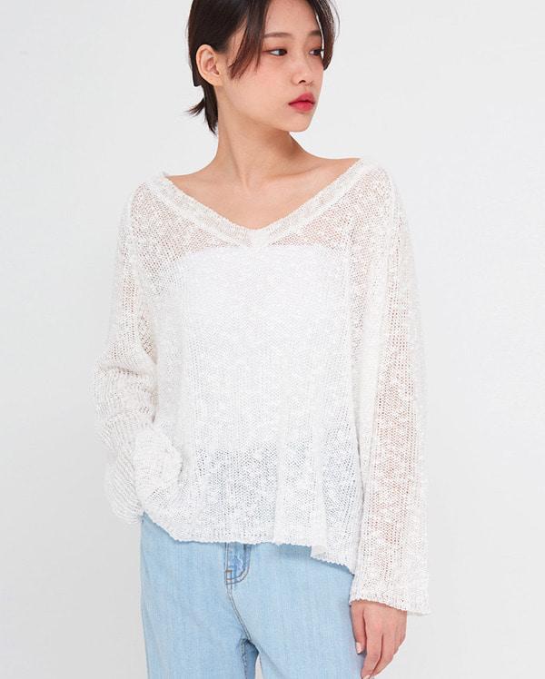 linen slub loose knit