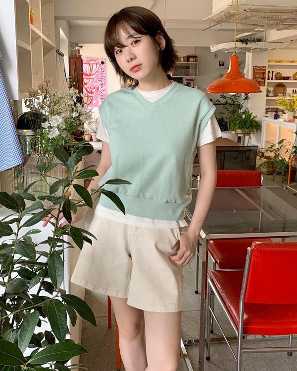 pastel cotton vest