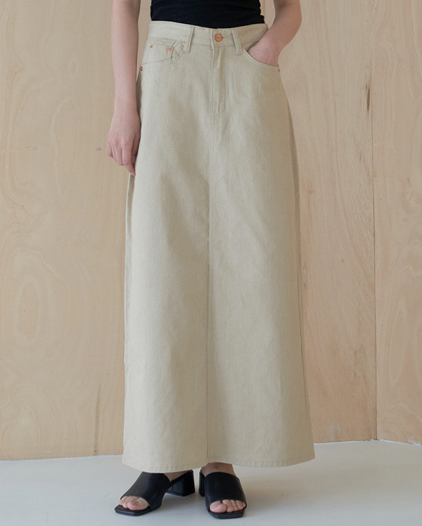 vase maxi cotton long skirt (s, m)