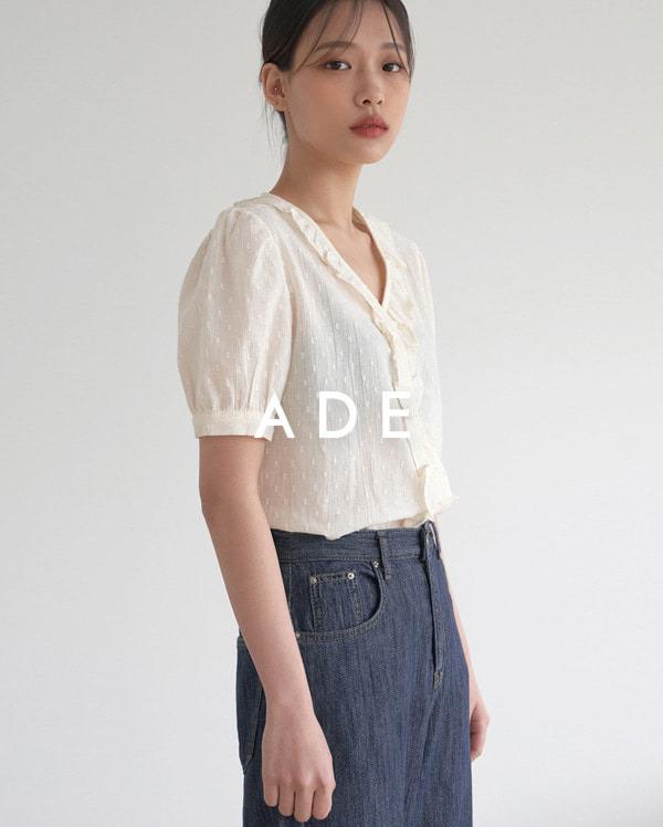 frill v-neck blouse