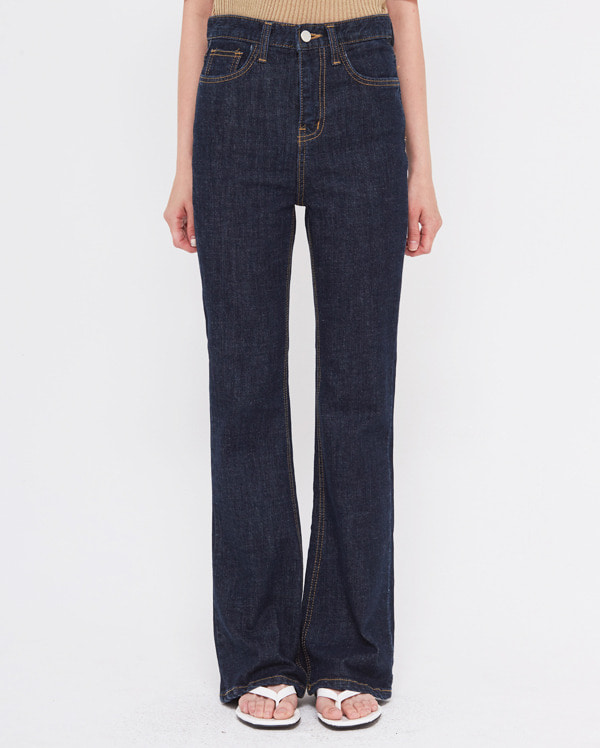 between boots cut denim pants (s, m, l)