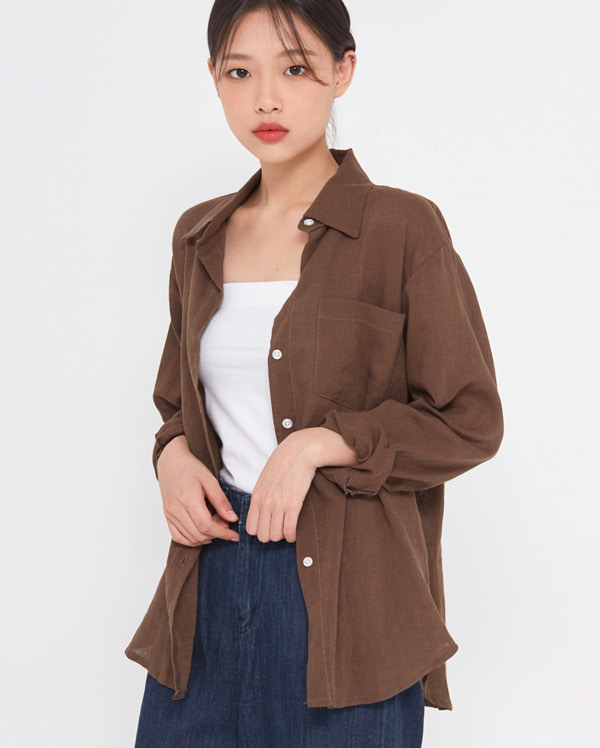 covent linen pocket shirts