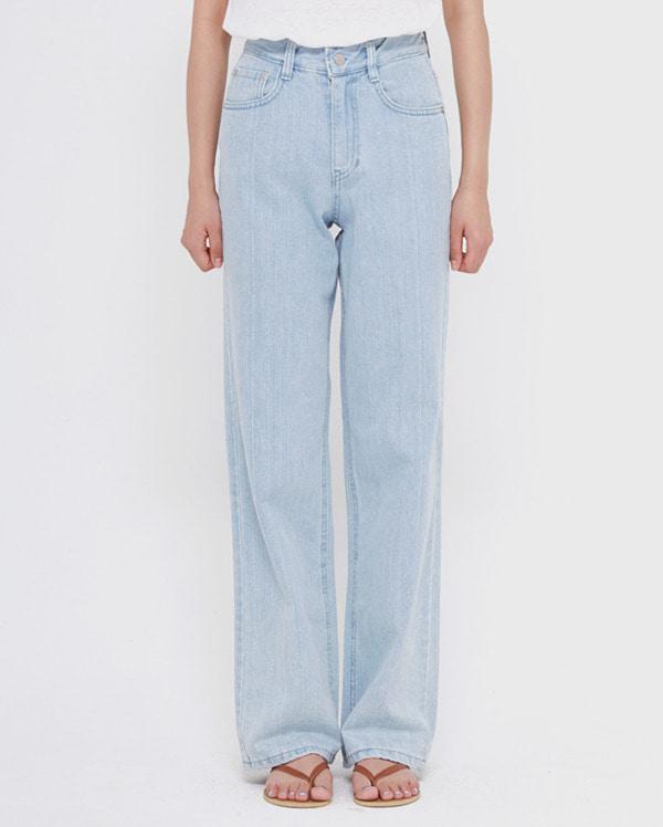 package light denim pants (s, m)