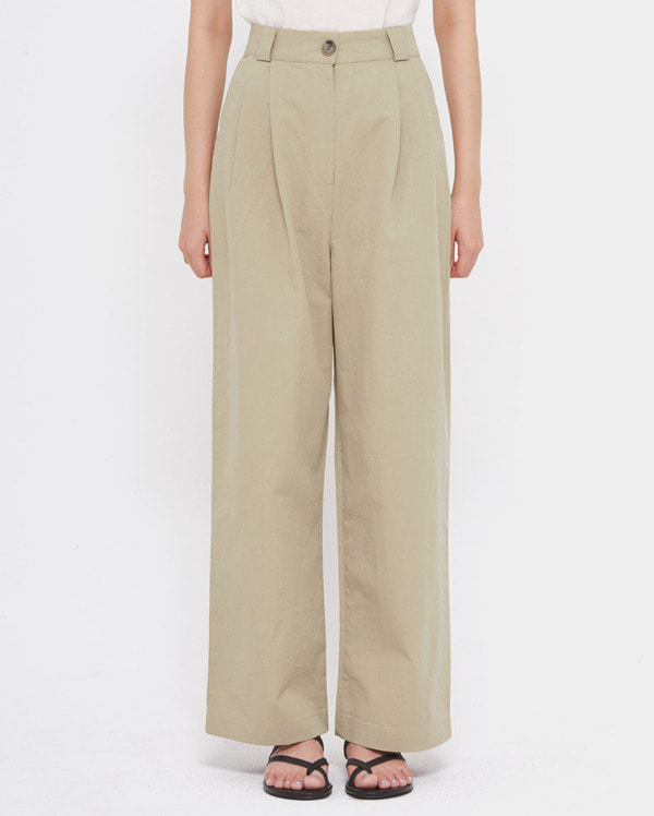 off wide cotton pants (s, m)