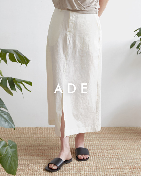 front slit cotton skirt (s, m)