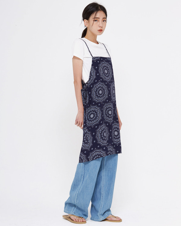 pattern sleeveless mini ops
