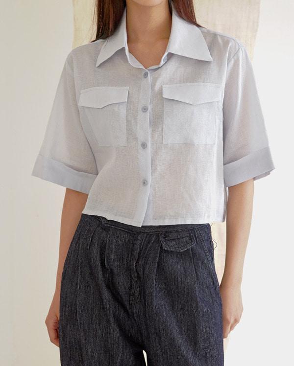 grain crop linen shirt