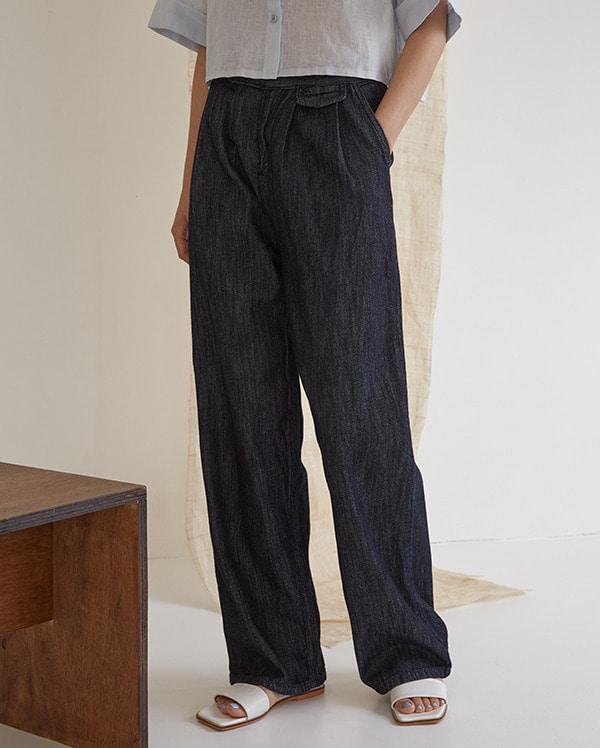 deep blue wide pants (s, m)
