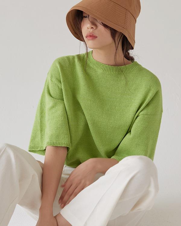 vivid crop knit
