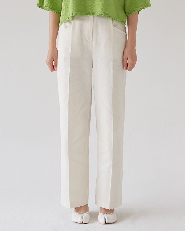 clean light straight pants