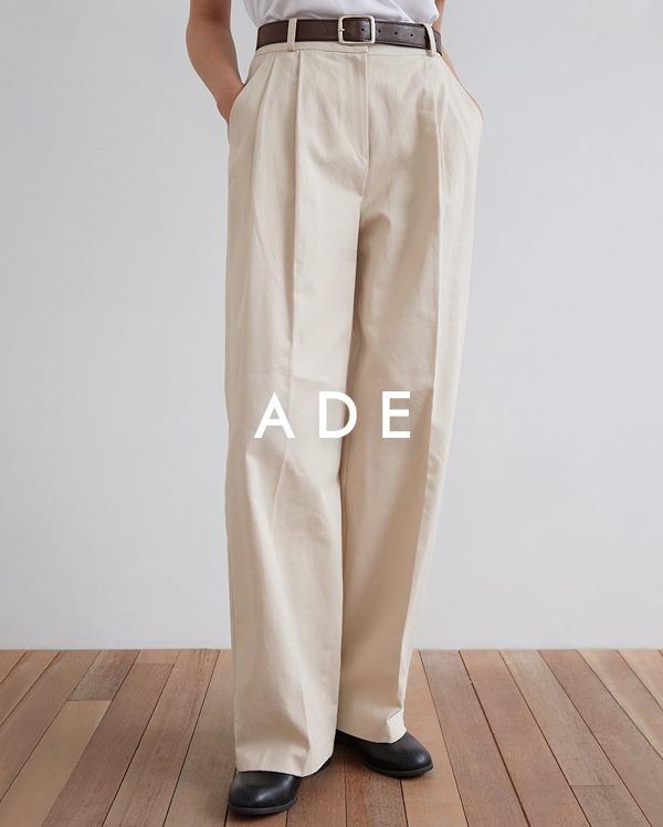 margaret cotton pintuck pants (s, m)