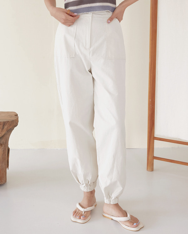 pocket cotton jogger pants