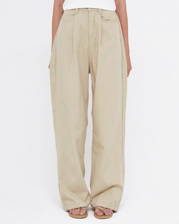 flat straight  pants