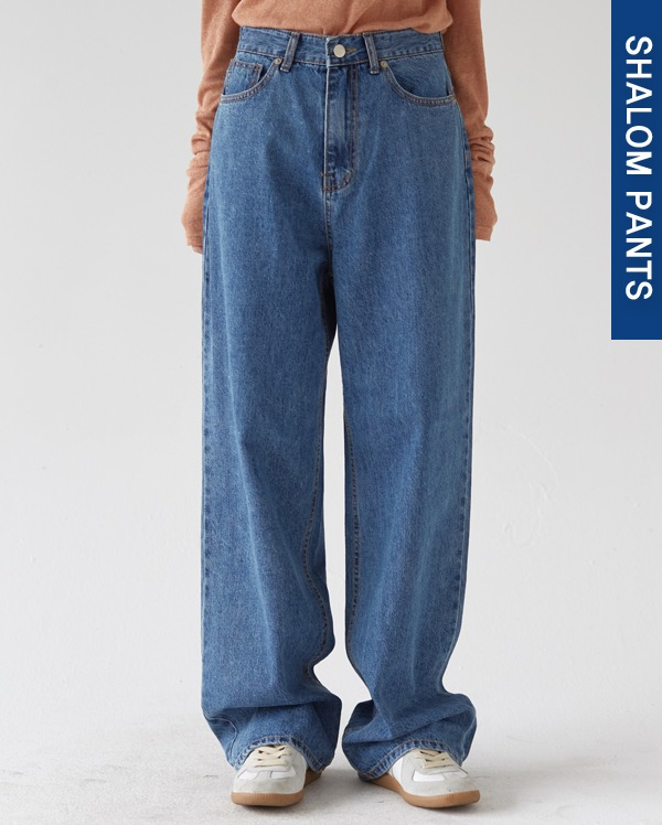202_high waist blue wide pants (s, m, l)