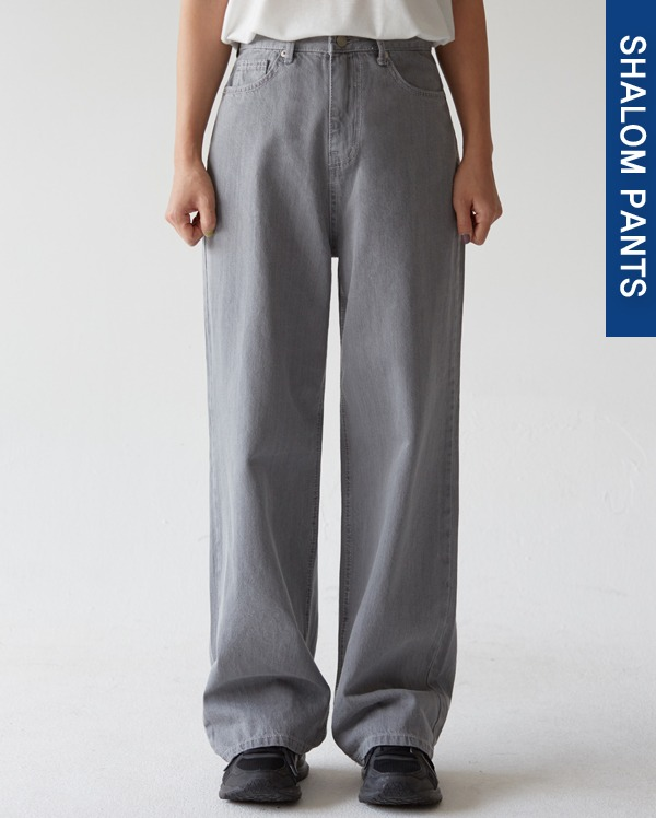 202_high waist gray wide pants (s, m, l)