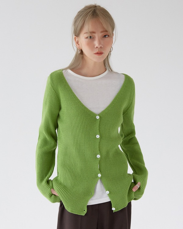 color ring warm cardigan