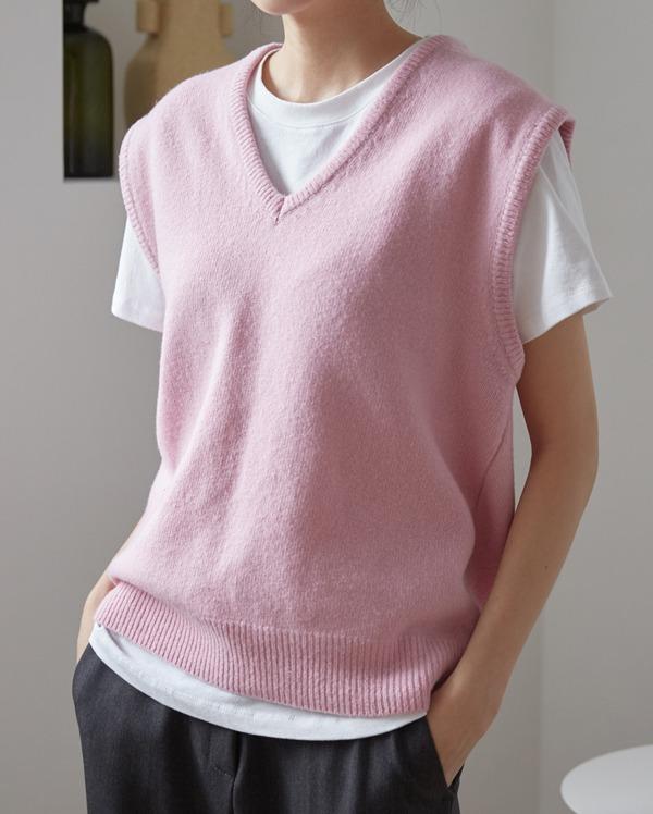 wool 100 knit vest