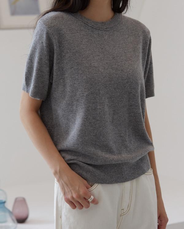 basic cashmere 1/2 knit