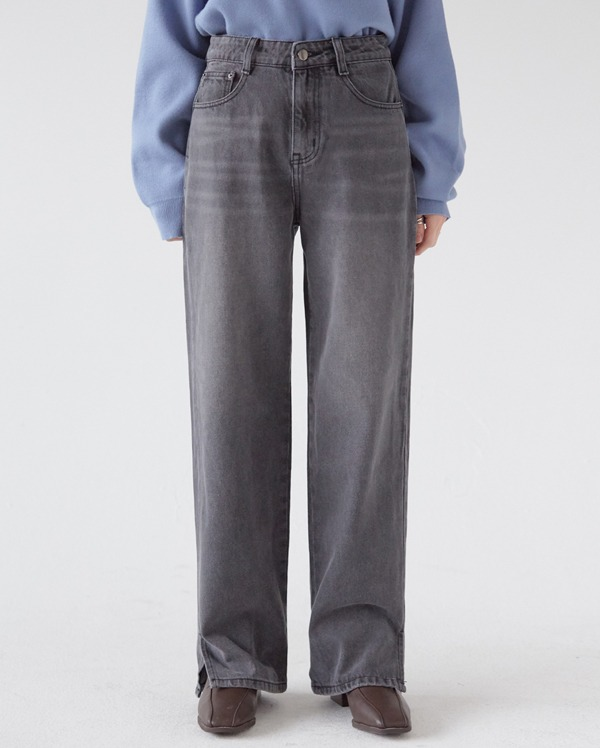 washing gray denim pants (s, m, l)
