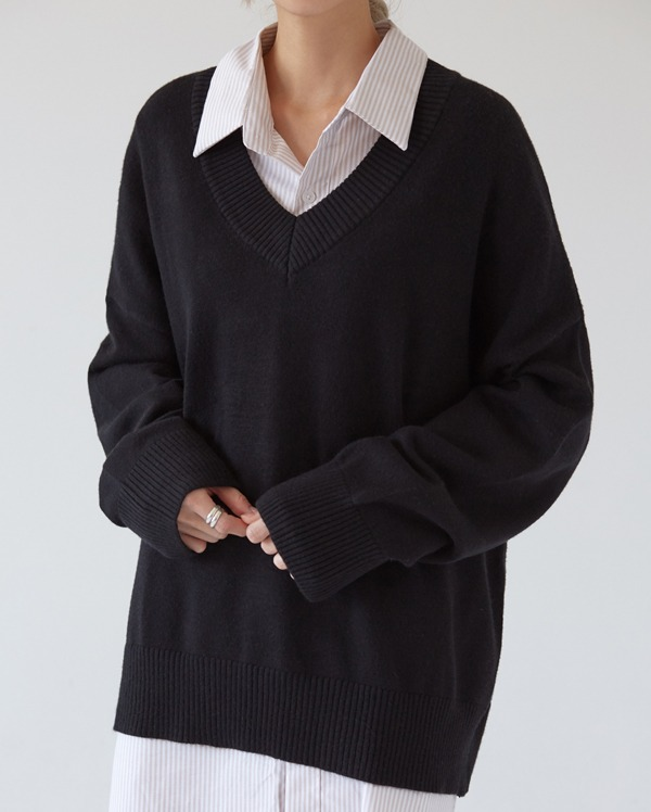 cache haif v-neck knit