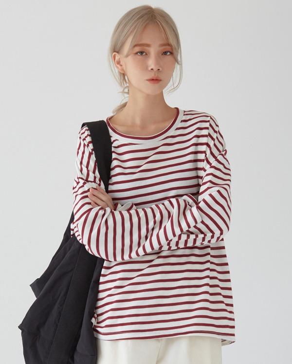 dan cosy stripe T