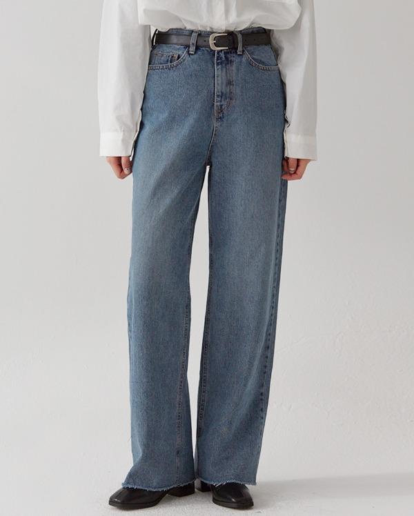 steady solid denim pants  (s, m, l)