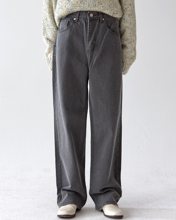 damage cotton wide pants (s, m, l)