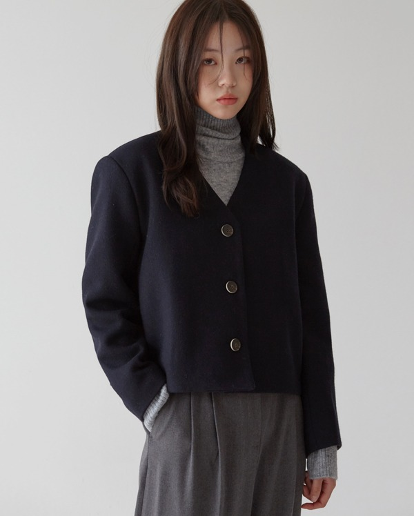 non collar short jacket