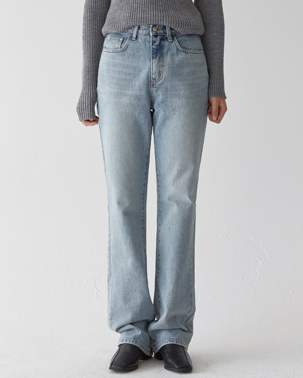 clean straight long denim pants (s, m, l)
