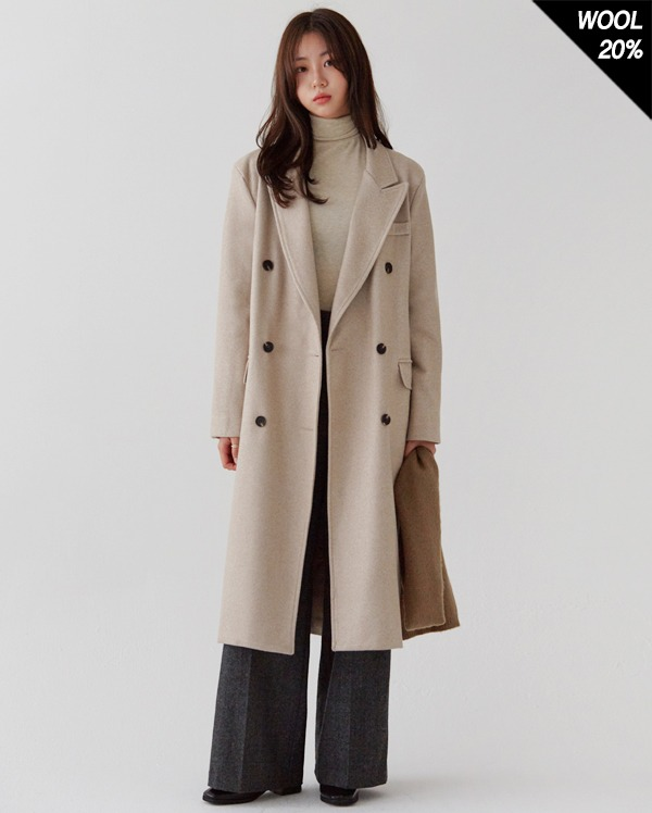 minuet classic double long coat