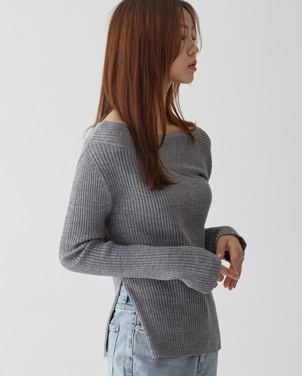 urban cut-off detail l knit