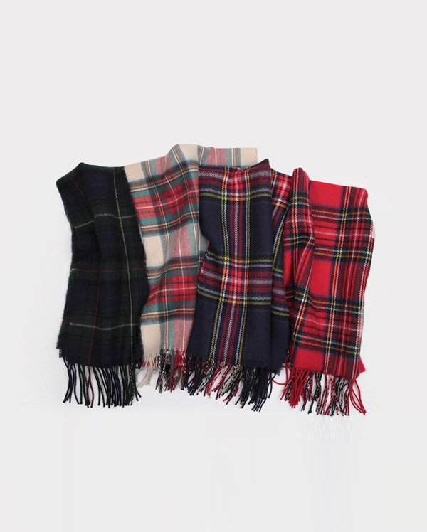 pedino check wool muffler