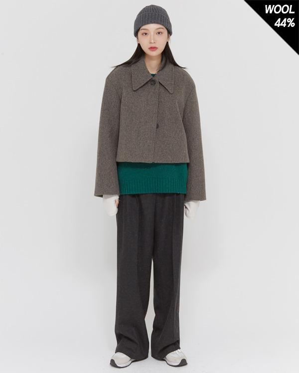 wool combine short jacket