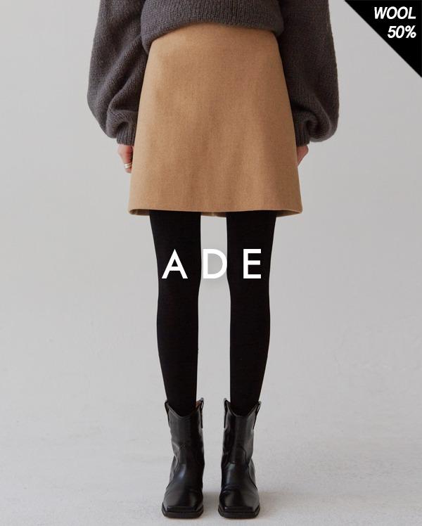 marlin wool mini skirt (s, m)
