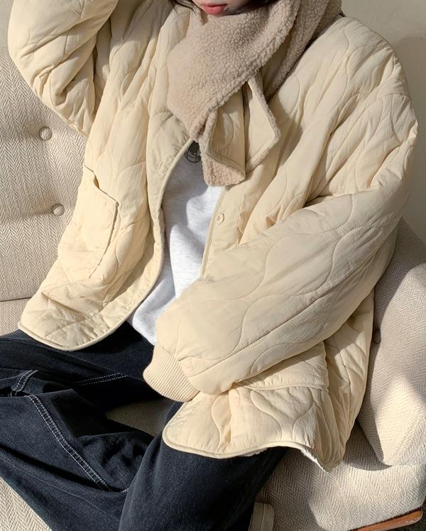 reversible diamond quilting jumper