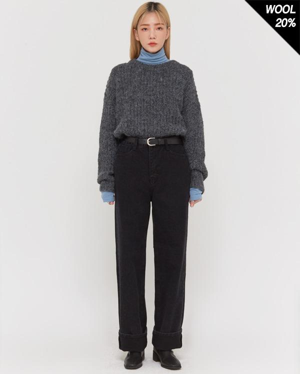 lazy soft wool round knit