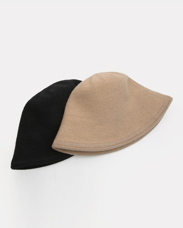 basic knit bucket hat