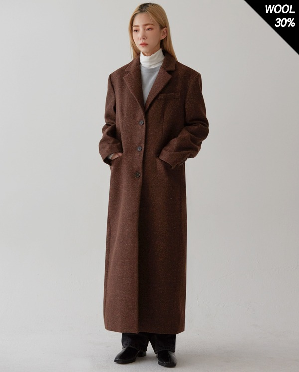 classic wit long wool coat