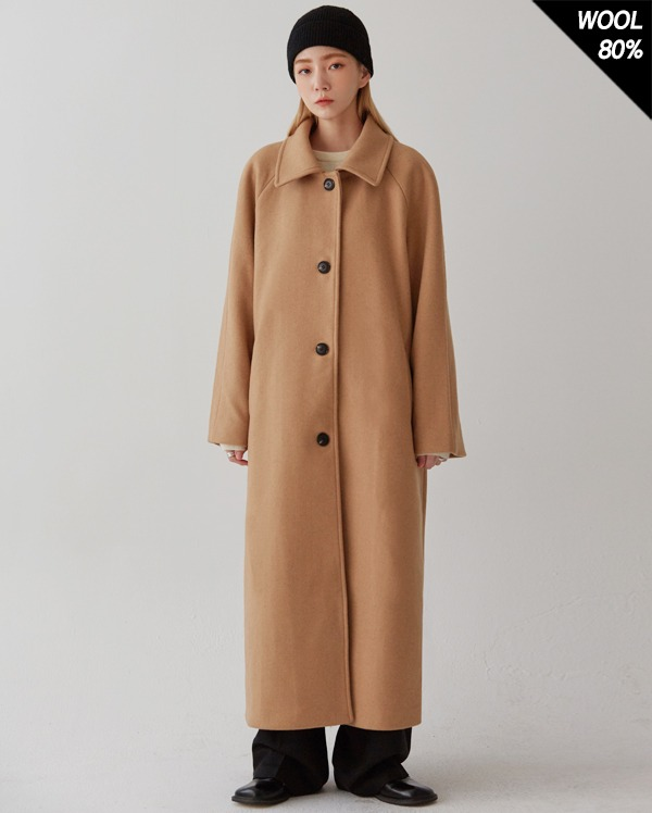 raglan wool coat