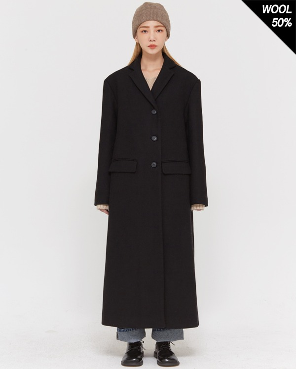 wool mixed long coat