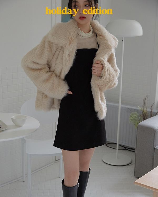 light blocked fur jacket
