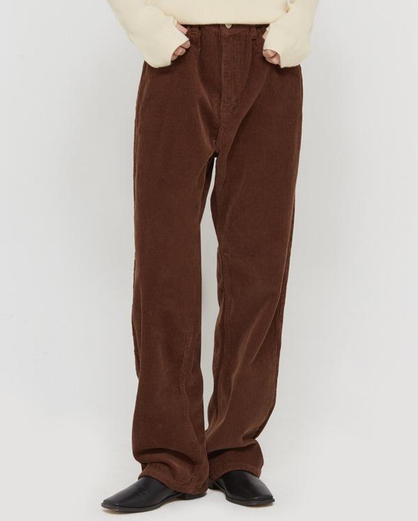 trendy corduroy wide pants (s, m, l)