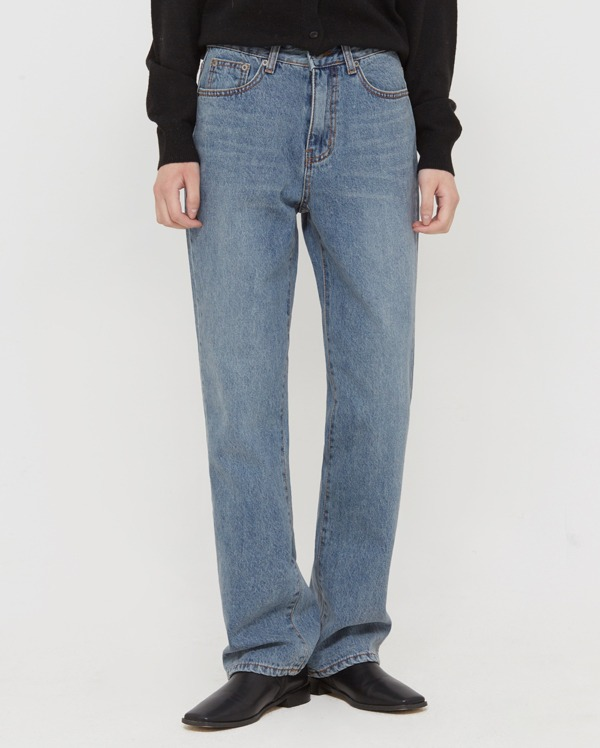 tin straight napping denim pants (s, m, l)