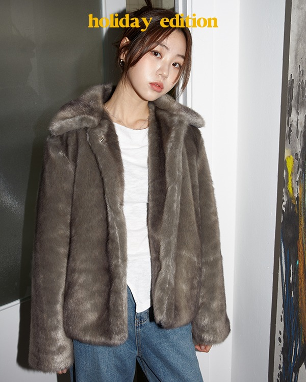 soft cozy fur jacket
