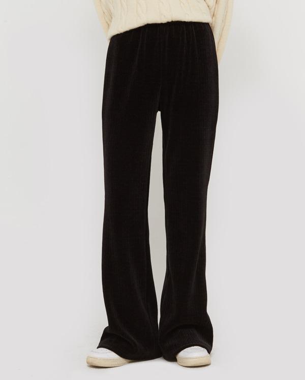 mond velvet boots-cut pants