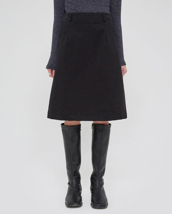 a cotton midi h-line skirt (s, m)