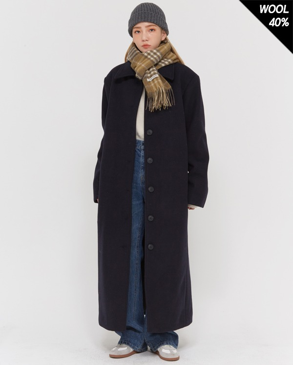 wool combine maxi single coat